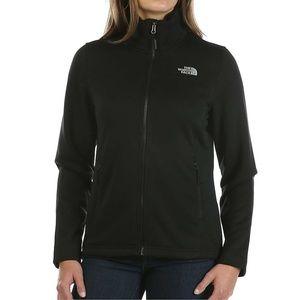 North face black full zip jacket